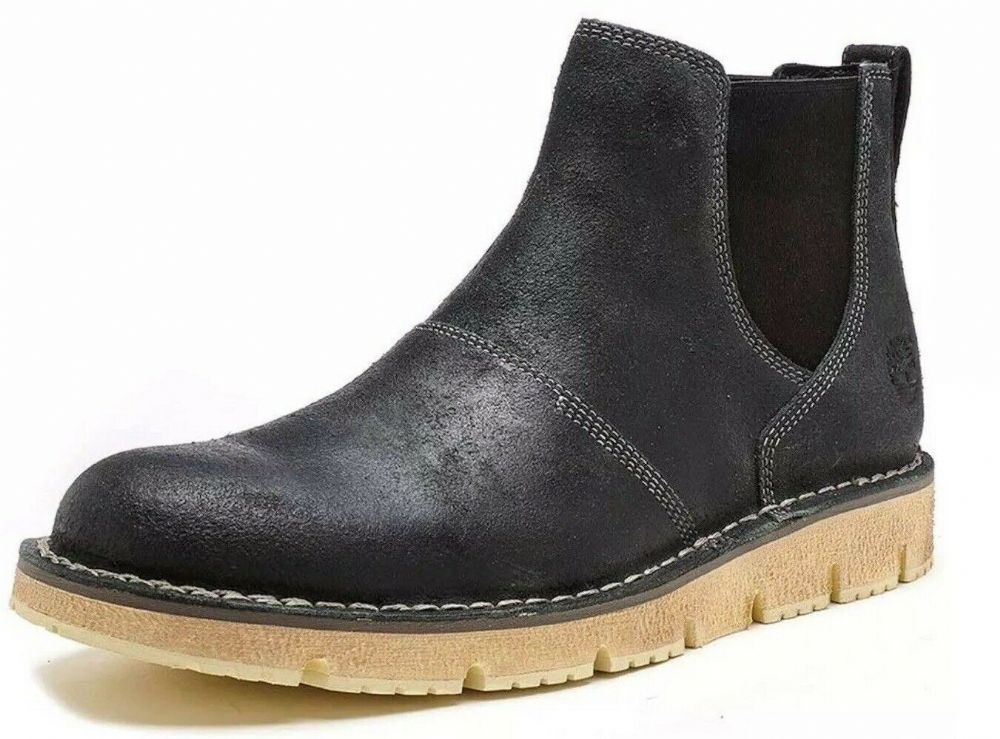 Timberland Westmore Chelsea Boots Men's Ankle Boots Black Leather A17W3 Boxed